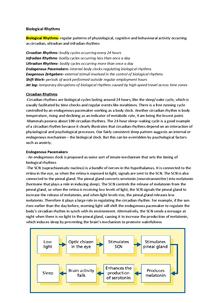 Preview of PSYA3 Biological Rhythms