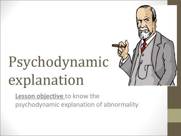 Preview of Psychodynamic Approach