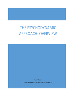 Preview of Psychodynamic Approach overview