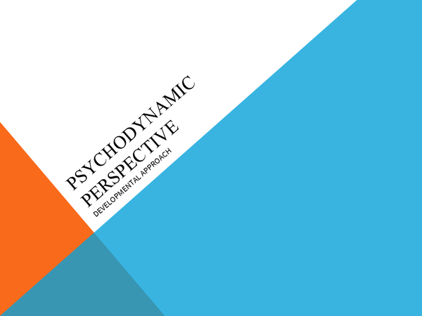 Preview of Psychodynamic Perspective