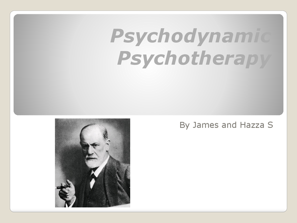 Preview of Psychodynamic Therapies