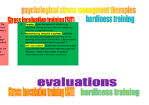 Preview of psychological stress management therapies (SIT and hardiness training)