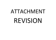Preview of Psychology Attachment Revision