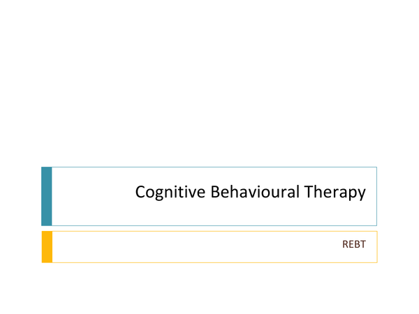 Preview of Psychology Abnormality Cognitive Therapy Overview