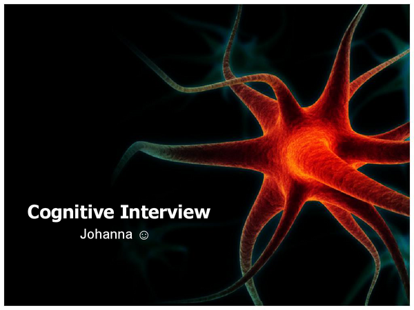 Preview of Psychology AS AQA A - Cognitive Interview Presentations