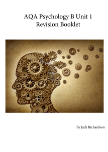 Preview of PSYCHOLOGY B UNIT 1 REVISION BOOKLET