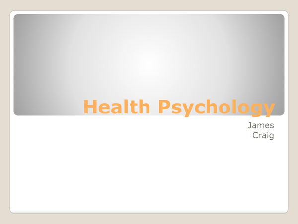 Preview of Psychology OCR A2 Healthy Living