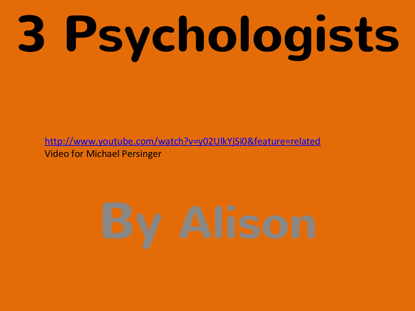 Preview of Psychology of Religion: 3 main psychologists