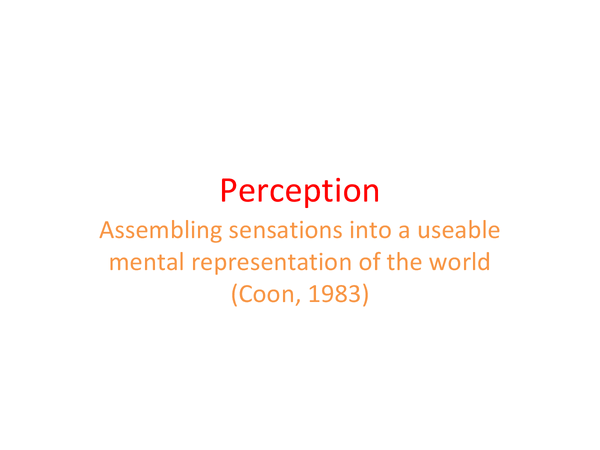Preview of Psychology - perception