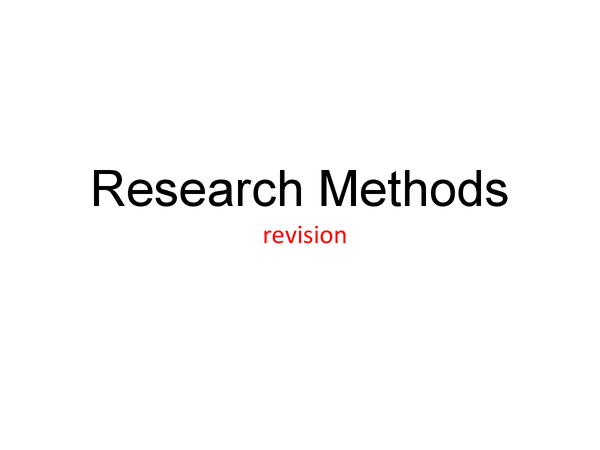 Preview of Psychology: research methods