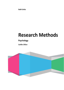 Preview of Psychology - Research Methods