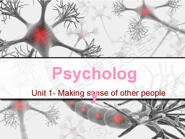 Preview of Psychology Unit 1 AQA