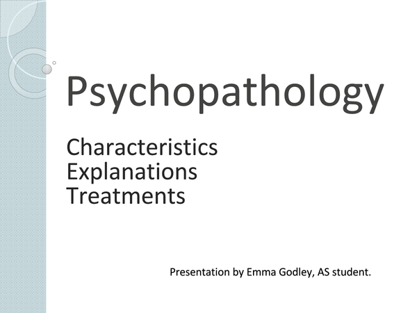 Preview of Psychopathology