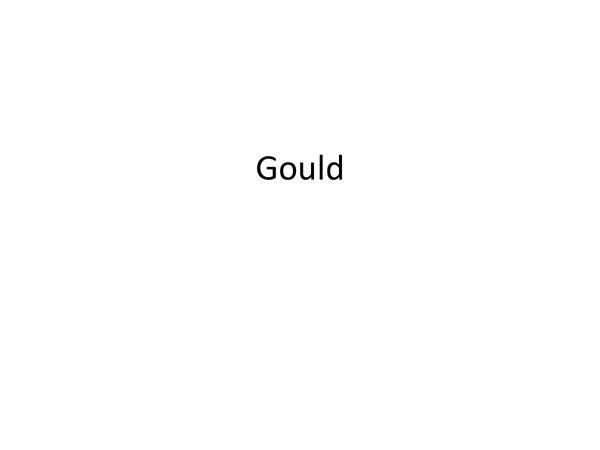Preview of PY4:  Gould's Evolution of consciousness