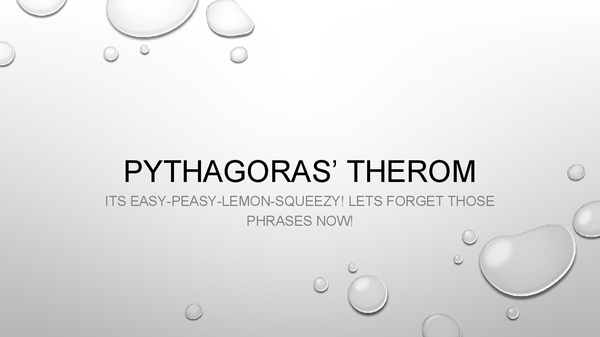 Preview of Pythagoras' Therom-PowerPoint