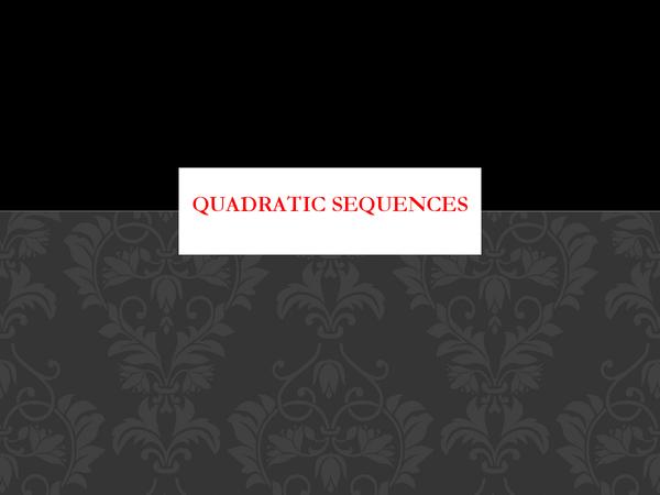 Preview of Quadratic Sequences