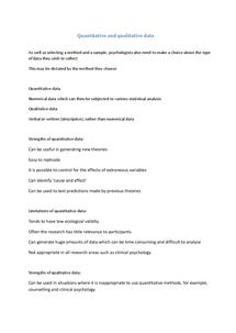 Preview of Quantitative and Qualitative Data - Methods