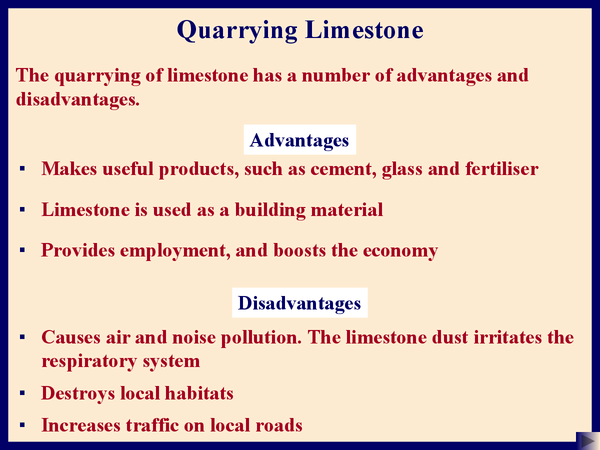 Preview of Quarrying limestone