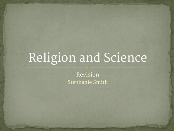 Preview of Question 6, Science and Religion, AQA B, Religious Studies Powerpoint GCSE