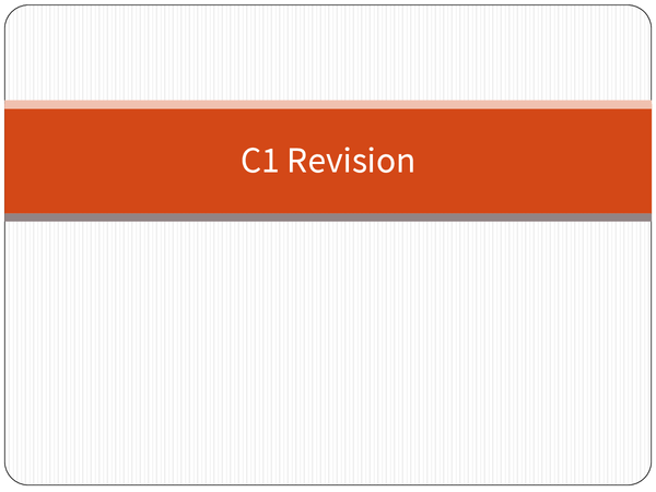 Preview of Quick Maths AS C1 Revision