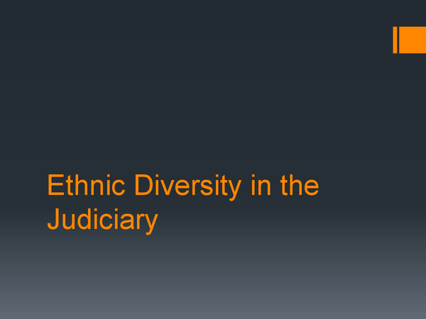 Preview of Race & Ethnicity in the Judiciary