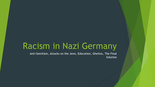 Preview of Racism In Nazi Germany