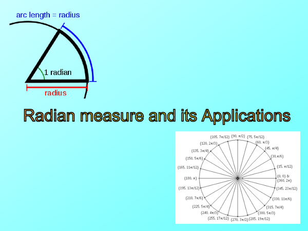 Preview of Radian measure and its applications C2 revision