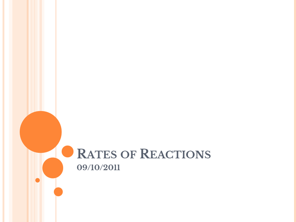 Preview of Rates of Reactions