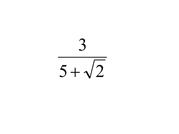 Preview of Rationalise The Denominator - A+B√C