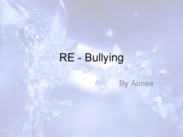 Preview of RE - Bullying