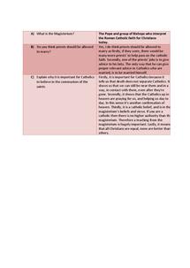 Preview of RE GCSE EDEXCEL UNIT 10.2 REVISION NOTES.