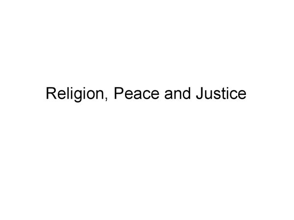 Preview of RE Islam OCR Religion, Peace and Justice