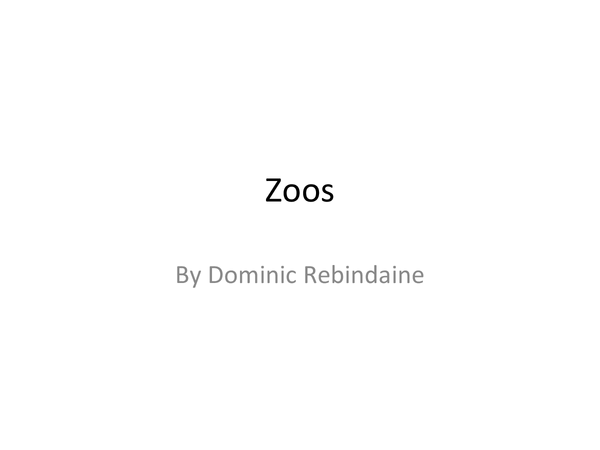 Preview of RE: Zoos