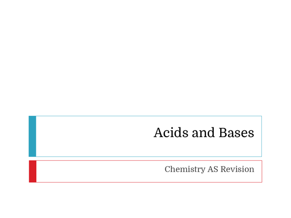 Preview of Reactions involving Acids