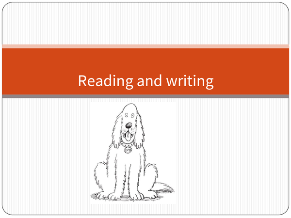 Preview of Reading and writing
