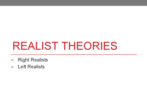 Preview of Realist Theories