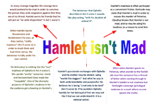 Preview of Reasons Hamlet isn't mad