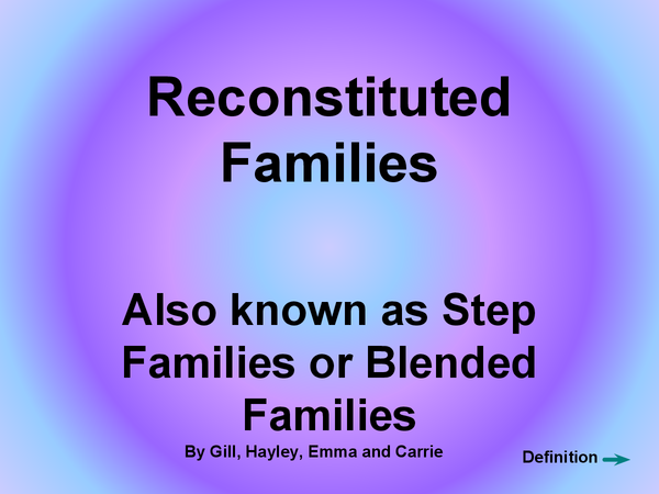 Preview of Reconstituted Families