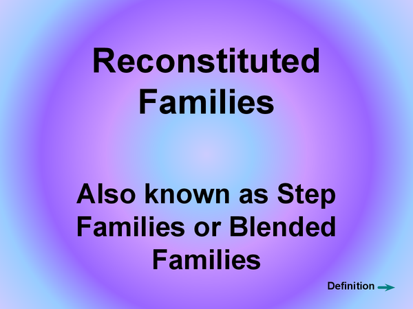Preview of Reconstiuted familes