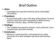reconstructive memory Reconstructive memory refers to the process of assembling information from stored knowledge when a clear or coherent memory of specific events does not exist for example, an interviewer may work with crime victim to assemble a memory of the traumatic events surrounding a crime.