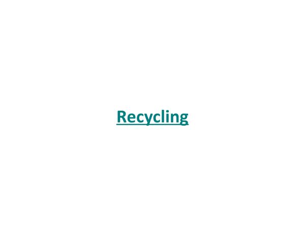 Preview of Recycling