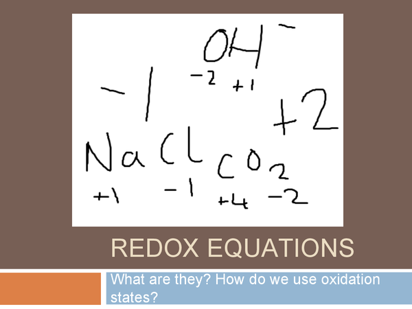 Preview of Redox Reactions