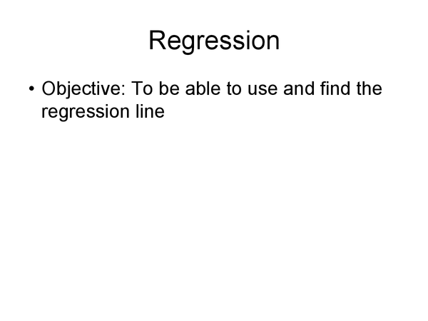 Preview of Regression