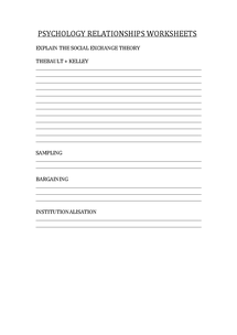 Preview of Relationship breakdown worksheet