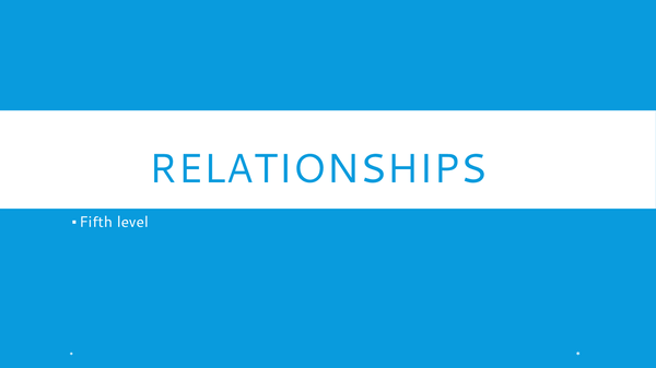 Preview of Relationships Powerpoint