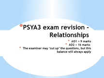 Preview of relationships revision