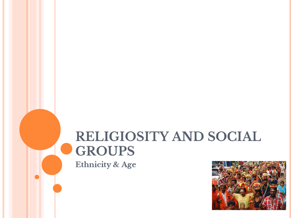 Preview of Religion And Social Groups: Ethnicity & Age