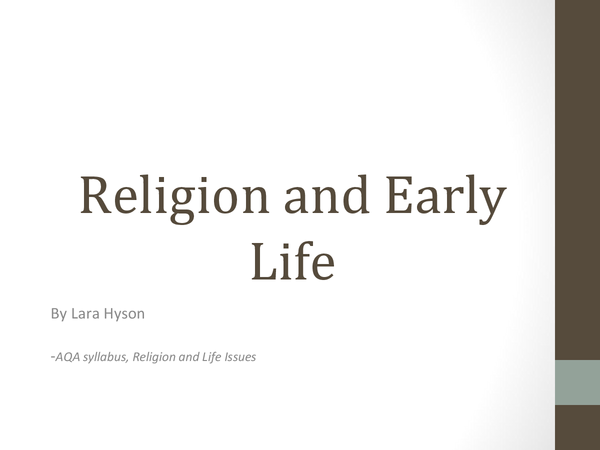 Preview of Religion and Early Life (Abortion)