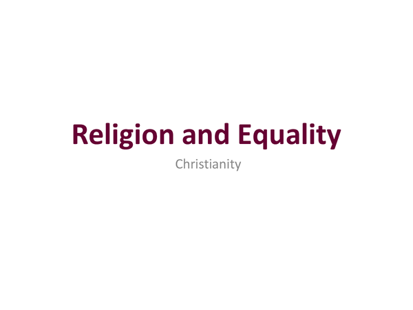 Preview of Religion and Equality