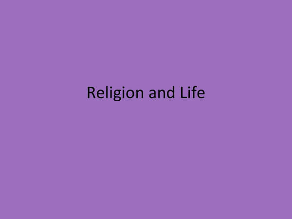Preview of Religion and Life : Religion and community cohesion